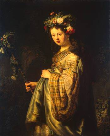 Rembrandt - Flora 1634 Oil on canvas, Hermitage Museum