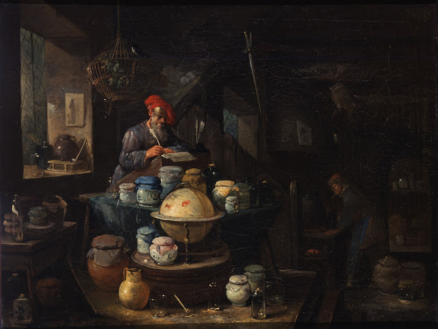 An Alchemist in His Study. Egbert van Heemskerk I. Oil on canvas, 17th century.