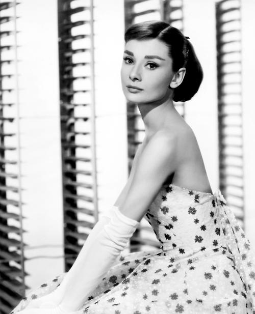 audrey hepburn strapless flower dress