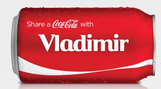 Share a Coca-Cola with Vladimir