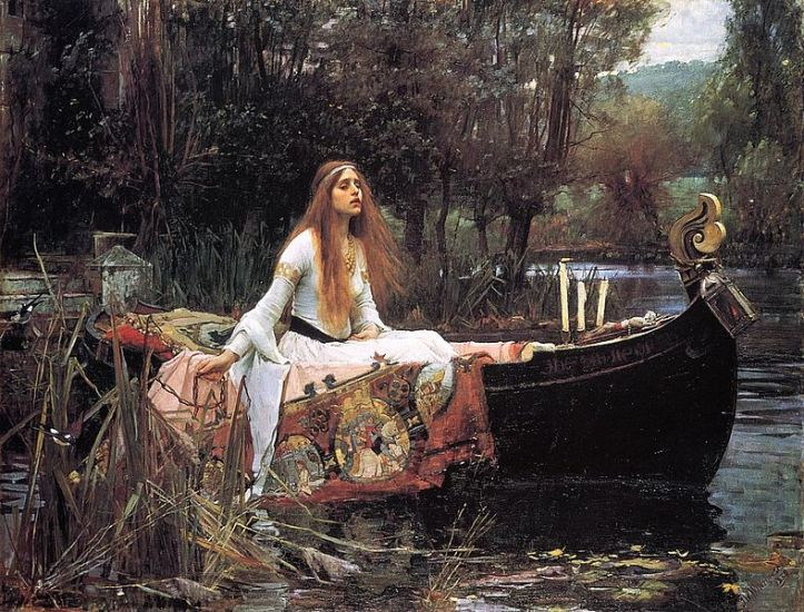 The Lady of Shalott de John William Waterhouse - 1888 (Tate Gallery, London)