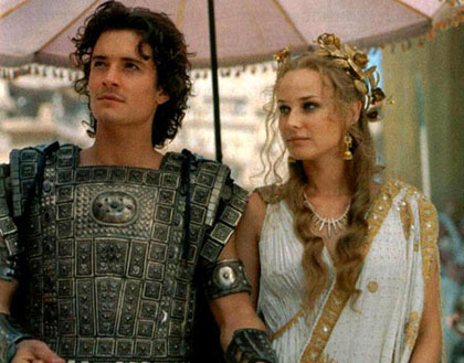 Orlando Bloom și Diane Kruger in Troz (2004)
