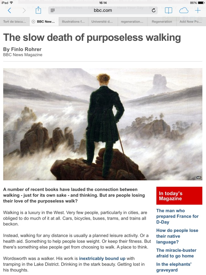 The slow death of purposeless walking