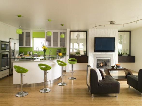 Green-Concept-Open-Plan-Kitchen-Design-588x441